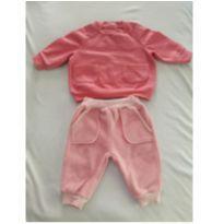 Blusinha de moleton e calça - 0 a 3 meses - Burigotto