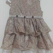 Vestido onça chique - 2 anos - Villa Lelê