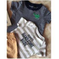 Trio da carter's  Body,blusinha e bermuda carter's novo de jacaré - 9 meses - Carter`s