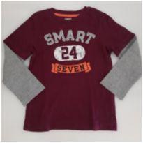Camiseta manga comprida - 4 anos - Gymboree
