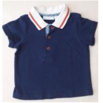 Blusa Azul Marinho com Gola - 1 ano - First Impressions
