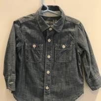 Camisa Jeans Baby Gap - 18 a 24 meses - Baby Gap