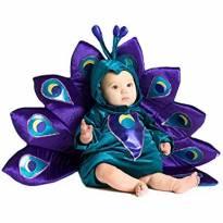 Fantasia Pavão Bebê - 6 a 9 meses - Importada
