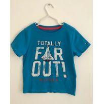 Camisa Malha Azul Tommy - 3 anos - Tommy Hilfiger