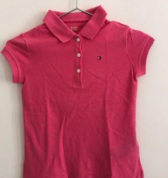 Camisa Polo Rosa Tommy - 6 anos - Tommy Hilfiger