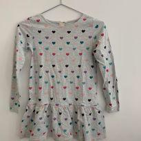 Vestido Corações - 6 anos - H&M