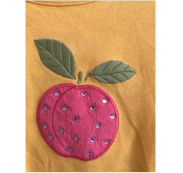 Camisa Amarela Gymboree Maçã - 7 anos - Gymboree