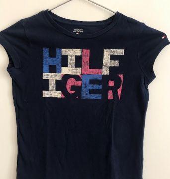 Camisa Malha Tommy Azul - 6 anos - Tommy Hilfiger
