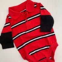 Body Vermelho Garanimals - 0 a 3 meses - Garanimals