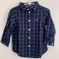 Camisa Manga Longa Xadrex - 12 a 18 meses - LOGG da H&M