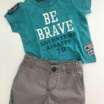 Conjunto Carters Be Brave Cinza - 9 meses - Carter`s