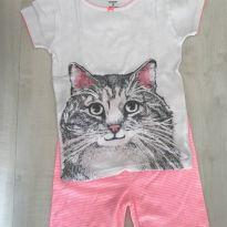 Pijama gatinha Carters ROsa - 7 anos - Carter`s