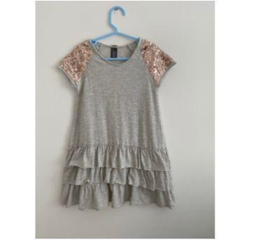Vestido Malha com babados - 5 anos - Zara