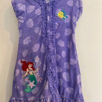 Roupão Ariel Princesa Disney Store - 7 anos - Disney