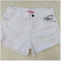 Short Branco com apliques - 10 anos - Figurinha