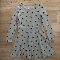 Vestido Cinza Corações Gap