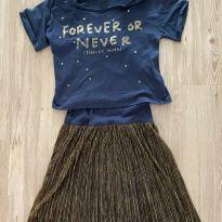 Vestido Marinho Dourado - 10 anos - Zara Kids