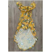 Vestido amarelo Floral - 14 anos - Marca não registrada