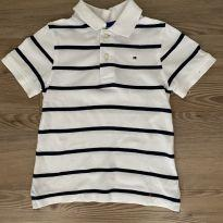 Camisa Polo Listras Tommy Hilfiger - 4 anos - Tommy Hilfiger