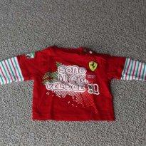 camiseta ferrari - 3 a 6 meses - Ferrari