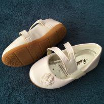 Sapato Branco Flor - Festa - 20 - Lalilu