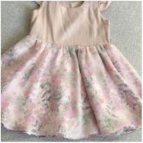 Vestido Florido Paula Paiva - 6 a 9 meses - Produzido em Atelier