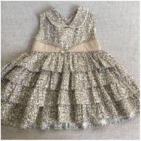 Vestido Estampa oncinha - Babados - 9 a 12 meses - Maria Bonita