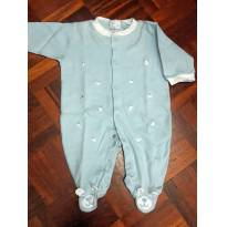 Macacão Bordado com cachorrinho tam P. - 0 a 3 meses - Baby fashion
