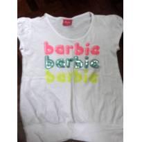 Blusa Branca da Barbie. - 10 anos - Barbie