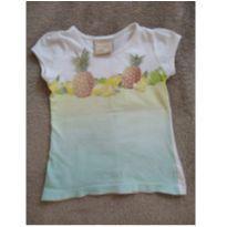Linda blusa tie dye com estampa de abacaxi/limão e aplicação de pedrinhas! - 2 anos - Marisol