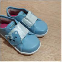 Tênis Ortopé - gatinha - azul e prata - 22 - Ortopé