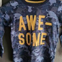 Camiseta Camuflada em Tons de Azul Carters - 5 anos - Carter`s