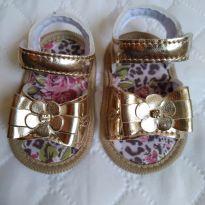 Sandalinha Dourada Baby - 14 - Keto Baby