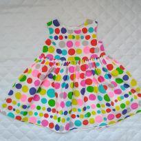 Vestido festa bolas coloridas! - 6 meses - Carter`s