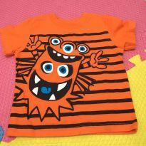 Camiseta laranja - 18 meses - Garanimals
