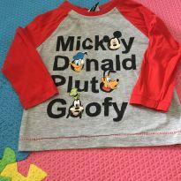 Camiseta manga comprida - 1 ano - Disney