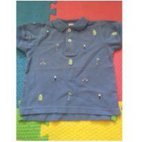 Camiseta polo azul - 18 meses - Kitestrings by Hartstring