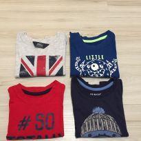 Camisetas manga longa - 9 a 12 meses - Primark