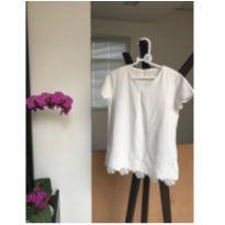 Camiseta com renda Zara