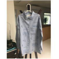 Camisa Listrada azul e branco - 9 anos - Zara Home Kids