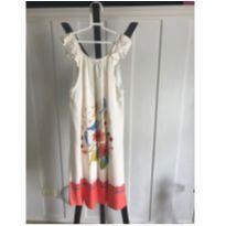 Vestido Fábula Flores e Passarinhos - 10 anos - Fábula