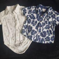 Body Camisa + camisa - 9 a 12 meses - Gymboree e Renner