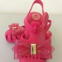 Sandália rosa com glitter - 22 - Zaxy