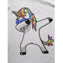 Camiseta Unicórnio P adulto - 14 anos - Não informada