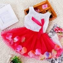 Vestidinho JARDIM SECRETO - saia vermelha - 9 a 12 meses - Não informada