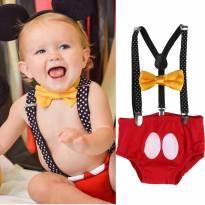 Mickey Mouse - Fantasia - 12 a 18 meses - Não informada