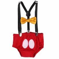 Mickey Mouse - Fantasia / Smash The Cake - 12 a 18 meses - Não informada