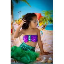 Fantasia Sereia - Ensaio de fotos - 4 anos - Não informada