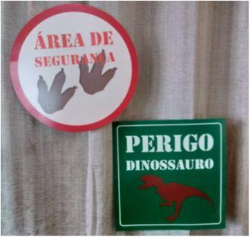 Placa Decorativa - Tema Dinossauro - Sem faixa etaria - Não informada
