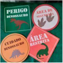 Placa Decorativa - Tema Dinossauro -  - Não informada